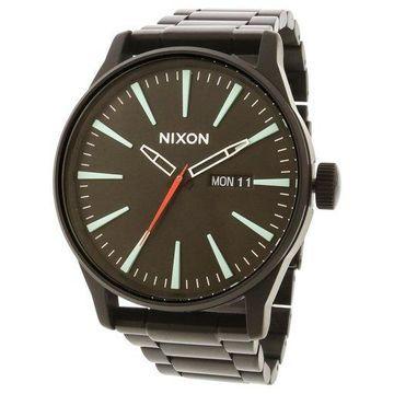 Nixon Men's A3562790 Black Stainless-Steel Japanese Quartz Dress Watch
