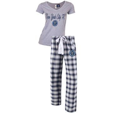 Women's Concepts Sport Gray/Navy New York City FC Forge Flannel Set