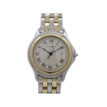Cartier Cougar Silver gold and steel Watches