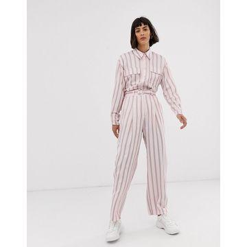 ASOS WHITE pink vertical stripe pants