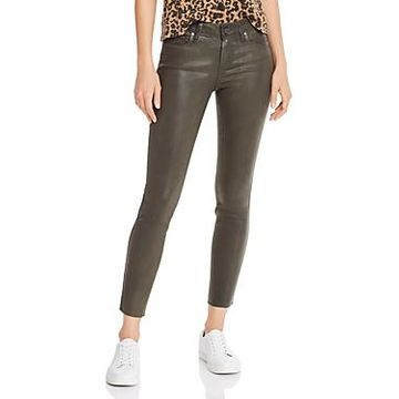 Paige Verdugo Coated Skinny Jeans in Chive Luxe Coating