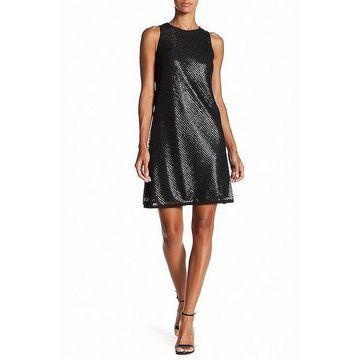 Carmen Marc Valvo Women's Sequin Overlay Shift Dress