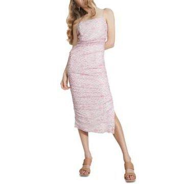 Bardot Ditsy-Print Ruched Midi Dress