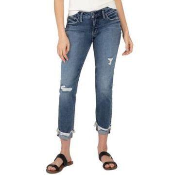 Silver Jeans Co. Distressed Boyfriend Jeans