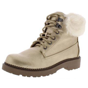 Esprit Womens Chelsea Faux Fur Cold Weather Booties