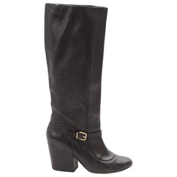 Robert Clergerie Black Leather Boots