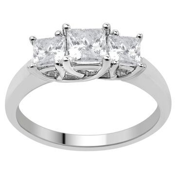 Divina 14KT Gold 1.00ct TDW Certified Diamond 3-Stone Engagement Ring