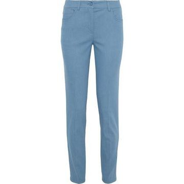Akris Magda Cotton-blend Slim-leg Pants