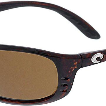 Costa Del Mar Men's Polarized Brine BR10OCGLP Red Rectangle Sunglasses