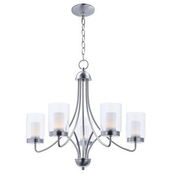 Maxim Lighting Mod 5-Light Satin Nickel Modern/Contemporary Chandelier