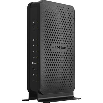 NETGEAR - Dual-Band N600 Router with 8 x 4 DOCSIS 3.0 Cable Modem - Black