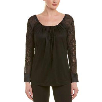 La Perla Silk-Blend Pajama Top