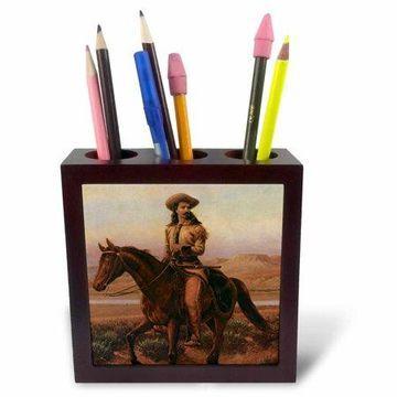 3dRose Buffalo Bill Cody, Tile Pen Holder, 5-inch