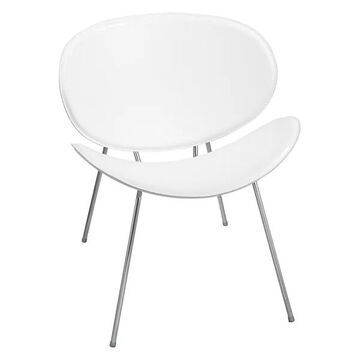 Safco Sya Guest Chair White in White