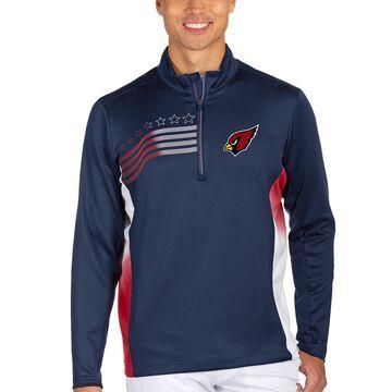 Men's Antigua Navy/Red Arizona Cardinals Liberty Quarter-Zip Pullover Jacket