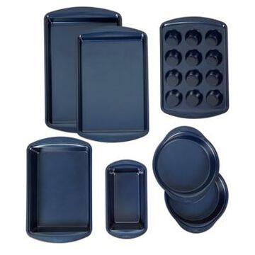 Wilton Diamond-Infused 7-Pc. Nonstick Navy Blue Baking Set