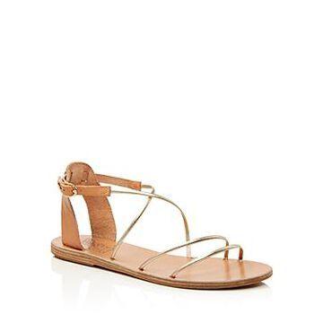 Ancient Greek Sandals Women's Melovia Metallic Strappy Sandals