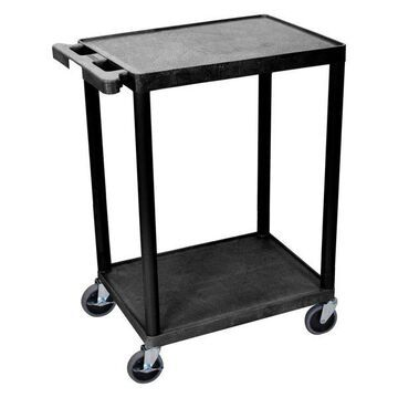 Luxor 2-Shelf Black Cart