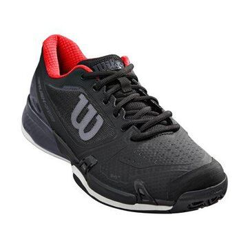 Wilson Men's Rush Pro 2.5 Tennis Shoe, Black/Ebony/Red