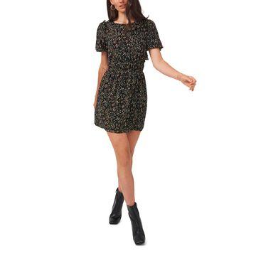1.state Short Bubble Sleeve Mini Dress