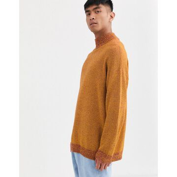 Noak high neck sweater in orange