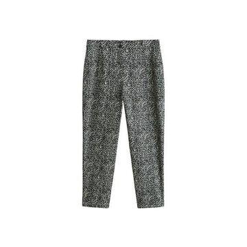 Violeta BY MANGO - Snake print cotton trousers black - 14 - Plus sizes