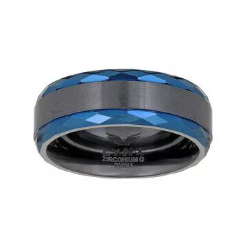 Men's LYNX Black Zirconium Ring, Size: 10, Silver