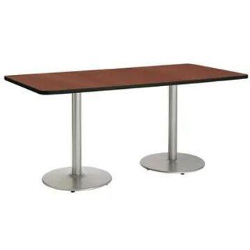 KFI Mode Rectangle Conference Table, Round Black Base (36