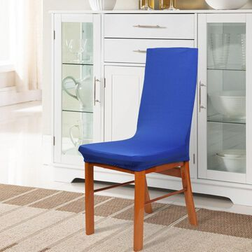 Unique Bargains Spandex Stretch Blue Dining Chair Slipcovers