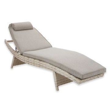 INK+IVY Kelsey Outdoor Chaise Lounge in Sand