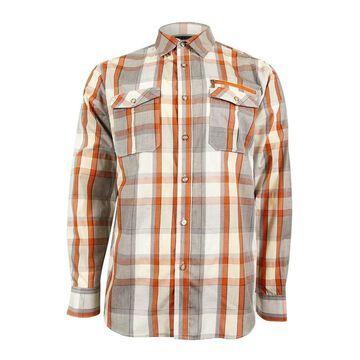 Sean John Men's Multicolor Check Shirt - Cream