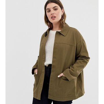 ASOS DESIGN Curve utility washed cotton jacket