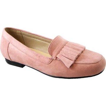 Beacon Shoes Women's Megan Loafer Blush Microsuede