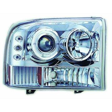 IPCW CWS-500C2 Head Lamps; Projector w/Rings And Corners; Chrome;