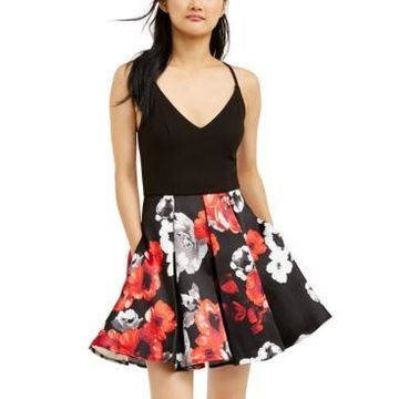 Speechless Juniors' Printed-Skirt Dress