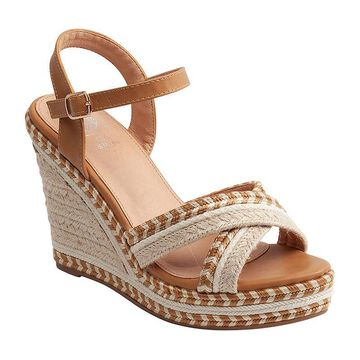 GC Shoes Womens Beverly Wedge Sandals