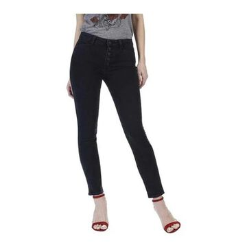 Paige Women's Hoxton High Rise Button Fly Ankle Jean in Joannie Joannie