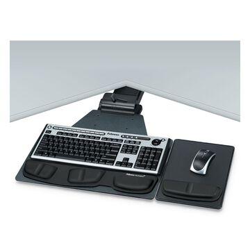 Fellowes, FEL8035901, Professional Series Corner Executive Keyboard Tray, 1, Black