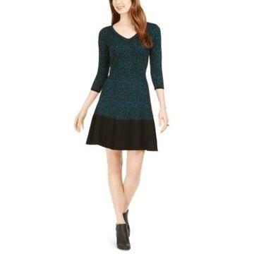 Taylor Animal-Print Sweater Dress