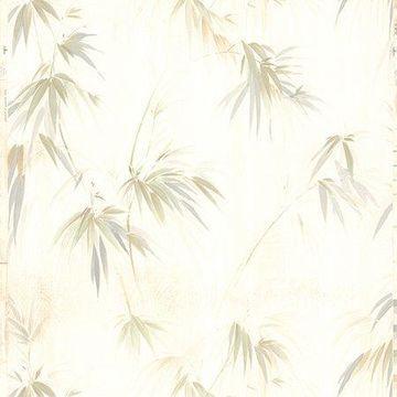 Brewster Fern Beige Fade Wallpaper