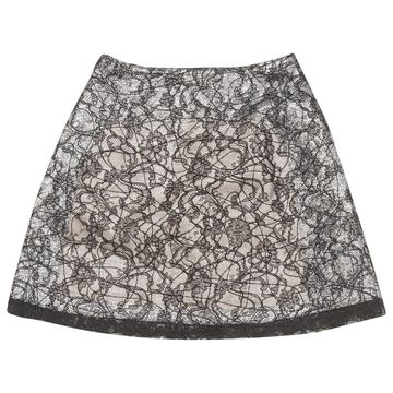 Rochas Metallic Silk Skirts