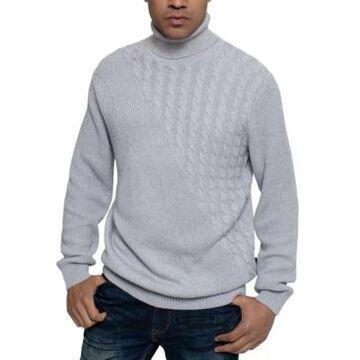 Sean John Men's Tri-Pattern Turtleneck Sweater