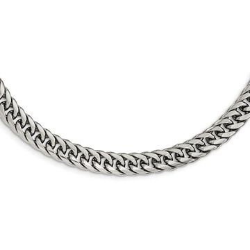 Chisel Stainless Steel Polished 24-inch Double Curb Chain Necklace (24 Inch - White)