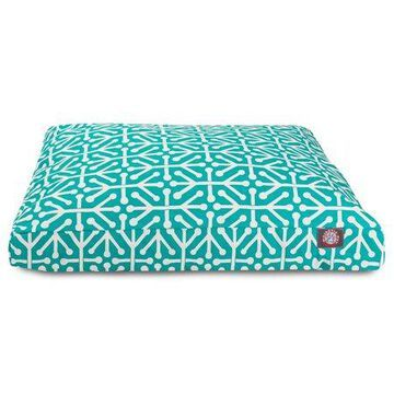 Majestic Pet Aruba Rectangle Dog Bed Treated Polyester Removable Cover Pacific Medium 36