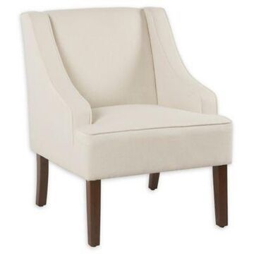 Homepop Fabric Upholstered Chair in Cream