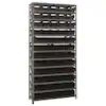 Quantum Storage Systems 12-in D x 36-in W x 75-in H 13-Tier Steel Freestanding Shelving Unit