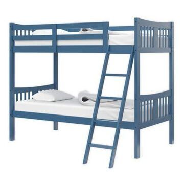Storkcraft Caribou Twin Bunk Bed in Navy
