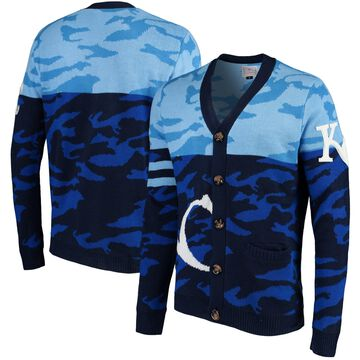 Kansas City Royals Camouflage Cardigan Sweater - Royal