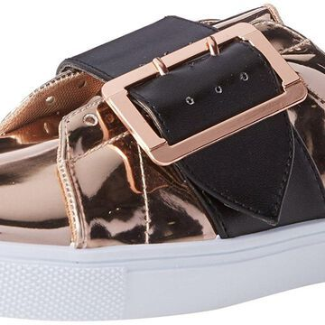 Qupid Womens reba Low Top Lace Up Fashion Sneakers, Rose Gold, Size 9.0