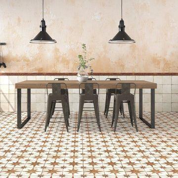 SomerTile 17.625x17.625-inch Royals Estrella Oxide Ceramic Floor and Wall Tile (5 tiles/11.02 sqft.)